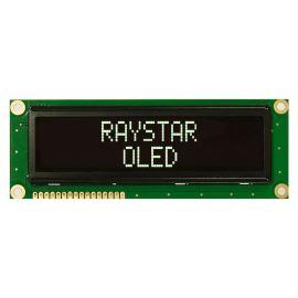 Alfanumerický OLED displej Raystar REC001602BWPP5N00000