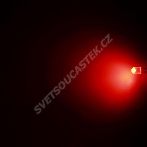 LED oválná 5,2x3,8mm červená 550mcd/(110/50°) difúzní Hebei 7511MR2D-SB