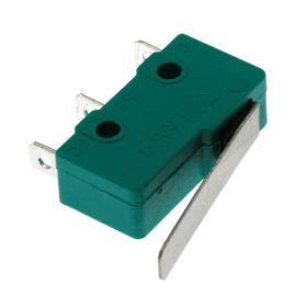 Mikrospínač na faston 3.2mm přepínací 1-pólový ON-(ON) 5A 125/250V AC Jietong  MSW-12 l=22.5mm