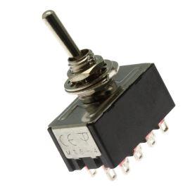 Páčkový spínač do panelu přepínací 4-pólový ON-ON 6/3A 125/250V AC Jietong  MTS-402