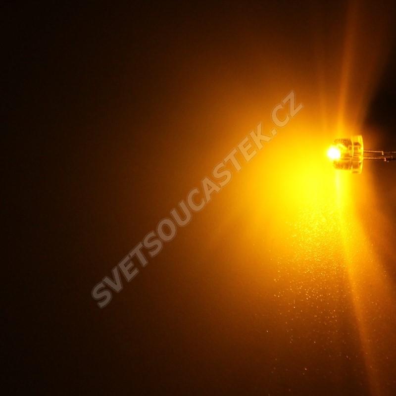 LED 4,8mm žlutá 280mcd/170° čirá Hebei 412PY9C