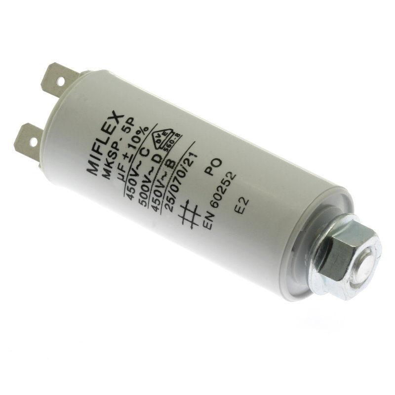 Levně Rozběhový kondenzátor i15kv 10uf/450v ±10% faston 6.3mm miflex i15kv610k-b