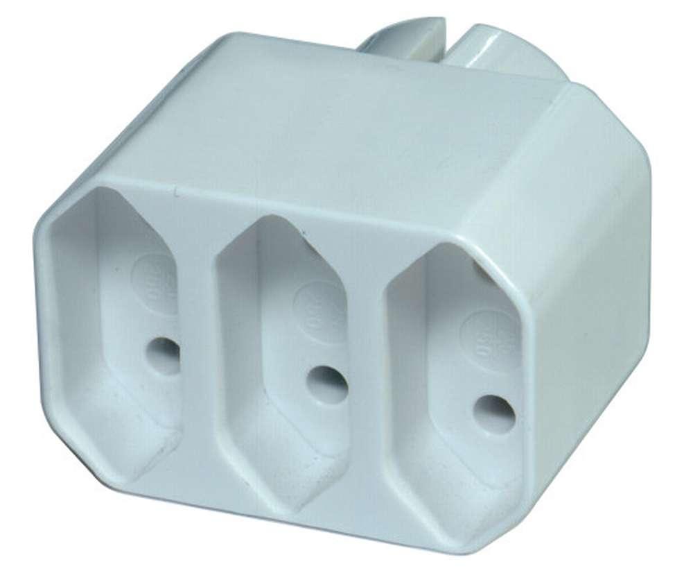 Emos Rozbočovací zásuvka trojnásobná plochá bílá 250V / 3x2.5A