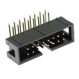 Konektor IDC pro ploché kabely 16 pinů (2x8) RM2.54mm do DPS úhlový 90° Xinya 118-A 16 G R K