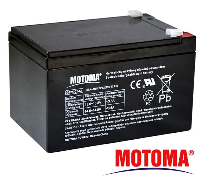 MOTOMA Baterie olověná 12V/12Ah bezúdržbový akumulátor