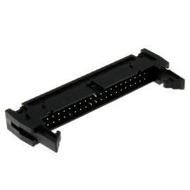 Konektor IDC pro ploché kabely 40 pinů (2x20) RM2.54mm do DPS přímý Xinya 119-40 G S K