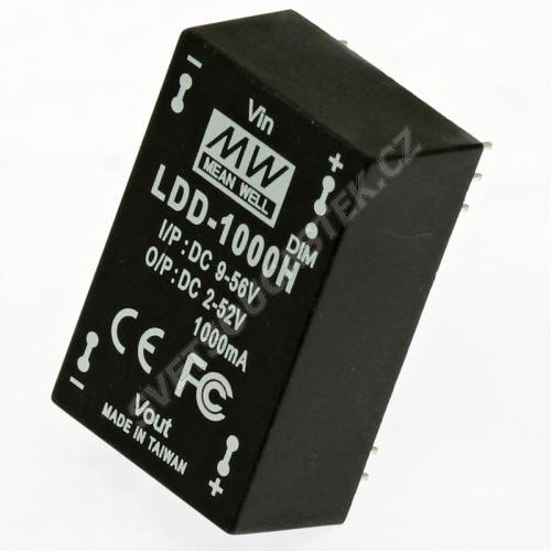 DC/DC LED driver do DPS (2-52V/1000mA) Mean Well LDD-1000H