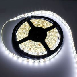 LED pásek studená bílá délka 1 metr, SMD 5050, 60LED/m - vodotěsný (silikagel) - IP65 STRF 5050-60-CW-IP65