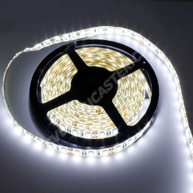 LED pásek studená bílá délka 1 metr, SMD 5630, 60LED/m - vodotěsný STRF 5630-60-CW-IP65