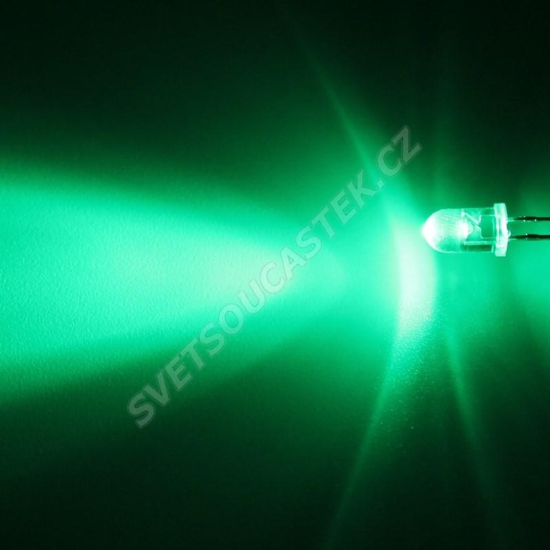 LED 5mm zelená 6000mcd/30° čirá Hebei 530VG0C
