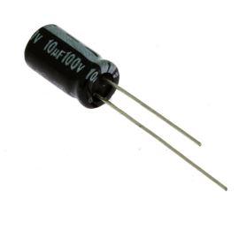 Elektrolytický kondenzátor radiální E 10uF/100V 6.3x11 RM2.5 85°C Jamicon SKR100M2AE11M