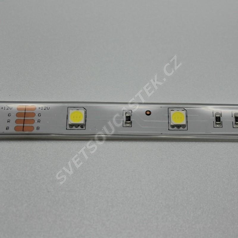 LED pásek studená bílá, SMD 5050, 30LED/m (balení 5m) - vodotěsný (silikon) STRF 5050-30-CW-IP66