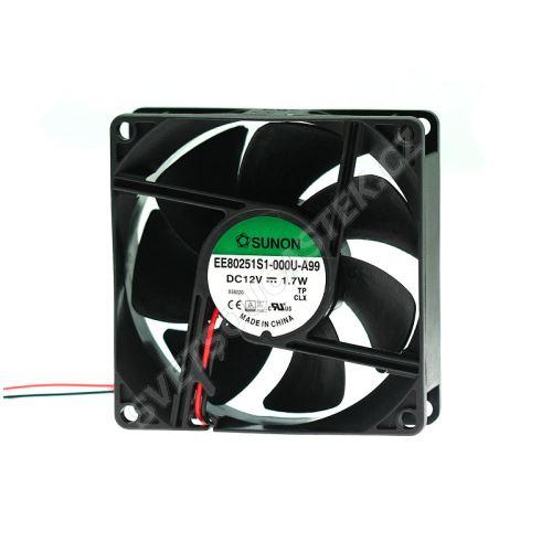 Ventilátor 80x80x25mm 12V DC/145mA 33dB SUNON EE80251S1-000U-A99