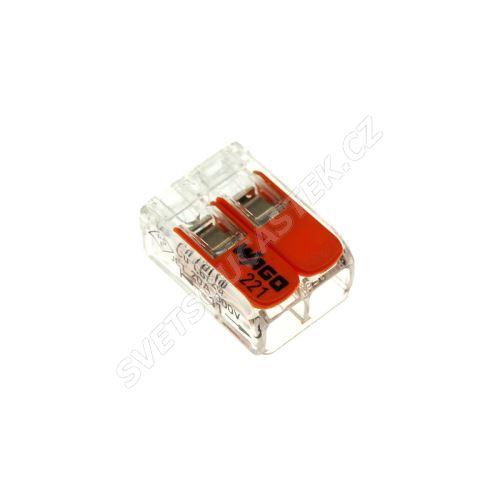 Wago svorka krabicová transparentní 450V/32A WAGO 221-412
