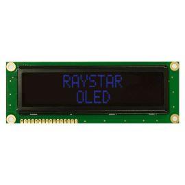 Alfanumerický OLED displej Raystar REC001602BBPP5N00001