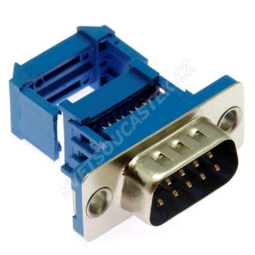 Konektor CANON samořezný 9 pinů vidlice na kabel přímá Xinya 103-09 P M B 2