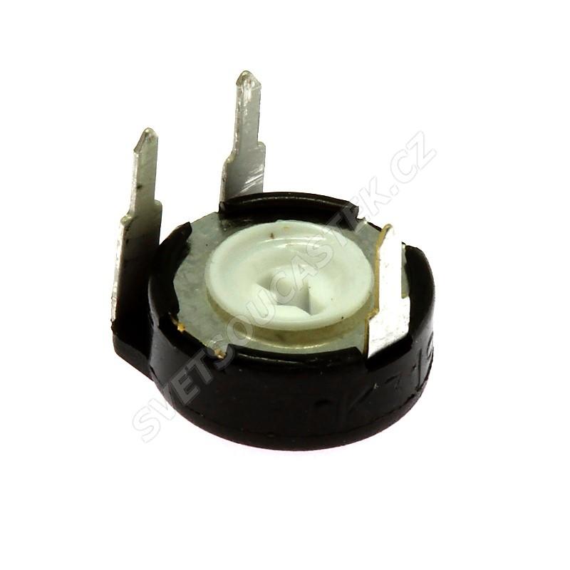Uhlíkový trimr 10mm lineární 500 Ohm ležatý 20% Piher PT10LV10-501A2020S