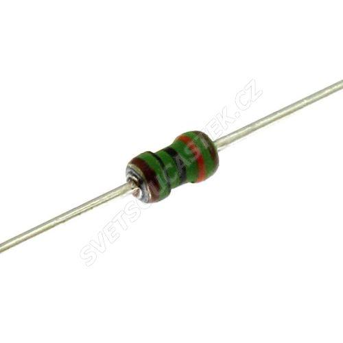 Metalizovaný rezistor 0204/0,4W 1M ohm 1% Royal Ohm MFF04FF1004A5