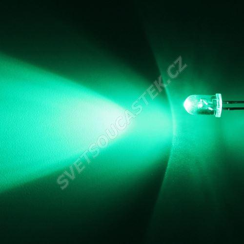 LED 5mm zelená 12000mcd/40° čirá Hebei 540PG0C