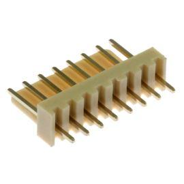 Konektor se zámkem 8 pinů (1x8) do DPS RM2.54mm přímý pozlacený Xinya 137-08 S G