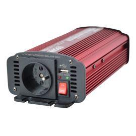 Menič napätia 12V / 230V 600W CZ + USB Geti GPI 612