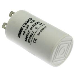 Rozběhový kondenzátor CBB60A 10uF/450V ±5% Faston 6.3mm SR PASSIVES CBB60A-10/450