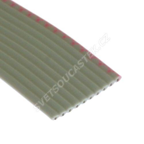 Plochý kabel AWG28 10 žil licna rozteč 1,27mm PVC šedá barva
