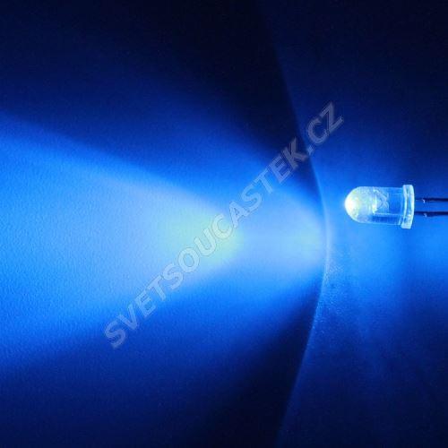 LED 5mm modrá 4180mcd/40° čirá Hebei 540LB7C