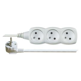 Prodlužovací kabel bílý 3x1mm 3 zásuvky 5m