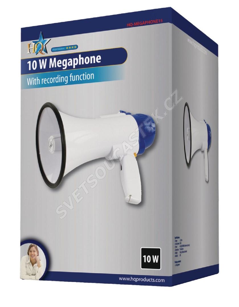 Megafon s regulací hlasitosti 10W HQ MEGAPHONE15