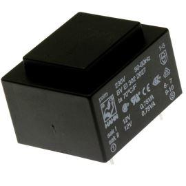 Transformátor do DPS 1.5VA/230V 2x12V Hahn BV EI 302 2027