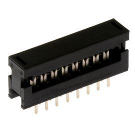 Konektor IDC pro ploché kabely 16 pinů (2x8) RM2.54mm samořezný do DPS přímý Xinya 123-16 G K