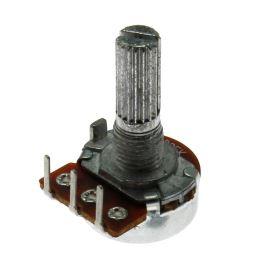 Potenciometr uhlíkový 16mm 0.125W lineární MONO 100k Ohm horizontální Xin Chang WH148-1A-5115 B100K 20/13
