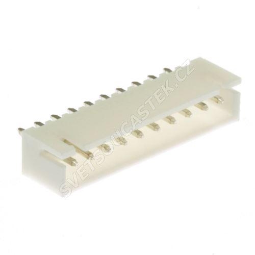 Konektor pro ploché kabely 10 pinů (1x10) RM2.5mm do DPS přímý Joint Tech A2501WV-10P