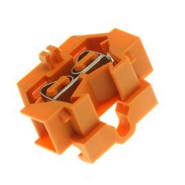 Svorkovnice na DIN lištu oranžová 400V/18A WAGO 260-336