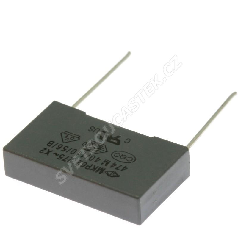 Fóliový kondenzátor odrušovací X2 470nF/275V RM 22.5mm 26.5x15x6mm Faratronic C42P2474M9SC000
