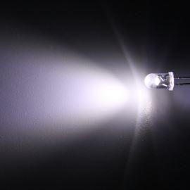 LED 5mm stud. bílá 8000mcd/40° čirá Hebei 540PWC
