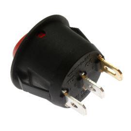 Kolébkový spínač do panelu spínací 1-pólový ON-OFF 10/6A 125/250V AC Jietong  MIRS-101-9C3-R/B