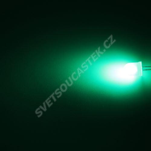 LED 10mm zelená 3000mcd/50° difúzní Hebei 105XG2D