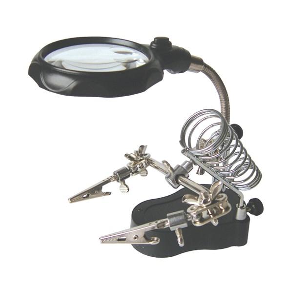 Zhongdi Electronic Tools Třetí ruka s lupou a LED osvětlením Zhongdi ZD-126-2