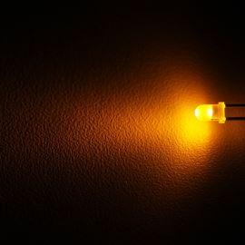 LED 3mm žlutá 100mcd/30° difúzní Optosupply OSY5LW3134A