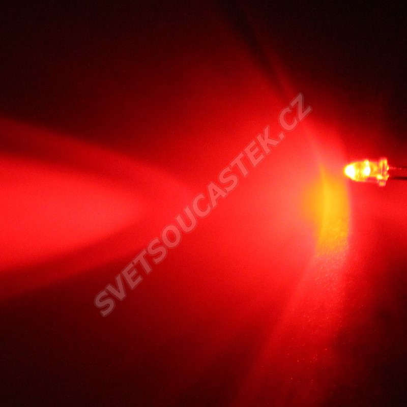 LED 3mm červená 2130mcd/30° čirá Hebei 330HR3C