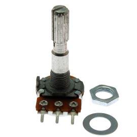 Potenciometr uhlíkový 16mm 0.125W lineární MONO 10k Ohm horizontální Xin Chang WH148-1A-2 B10K-15/13