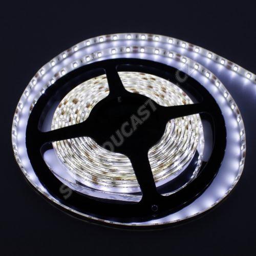 LED pásek studená bílá délka 1 metr, SMD 3528, 60LED/m - vodotěsný (silikagel) - IP65 STRF 3528-60-CW-IP65