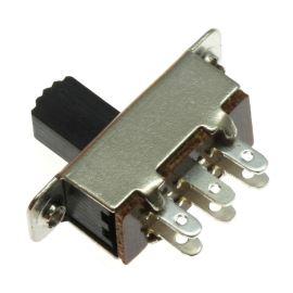 Posuvný spínač do DPS přepínací 1-pólový ON-ON 250V 0.5A Ninigi SS4022P2W