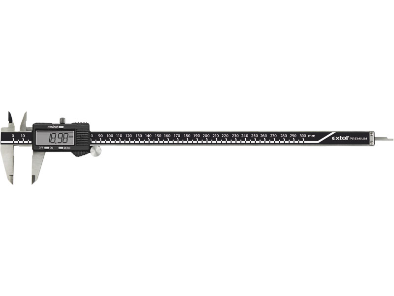 EXTOL PREMIUM Měřítko posuvné digitální 0-300mm