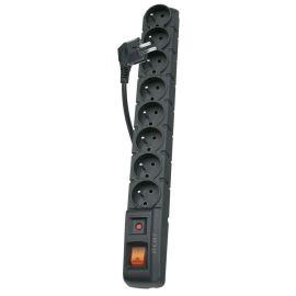 Přepěťová ochrana černá 8 zásuvek s kabelem 1.5m