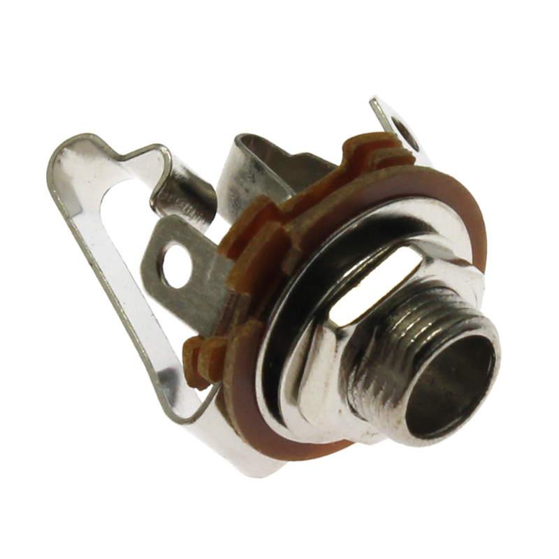 Zásuvka do panelu kovová pro Jack 6.3mm STEREO