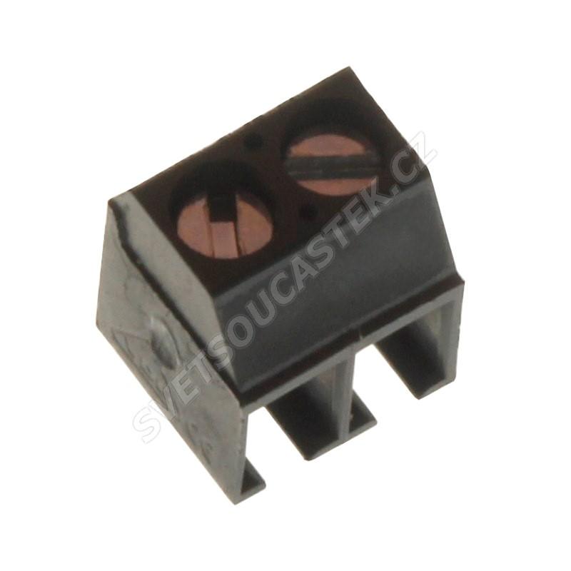 Šroubovací svorkovnice do DPS 2 kontakty 13.5A/130V RM3.5mm šedá barva PTR AK550/2DS-3.5-V-GREY
