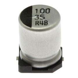 Elektrolytický kondenzátor SMD 100uF/35V 8x10.2 85°C Jamicon CRM101M1VF10W